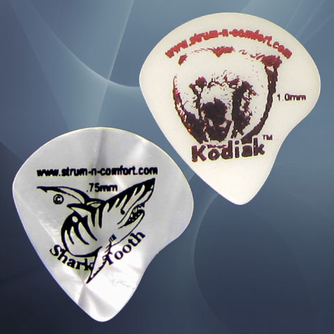 Strum 'N' Comfort Kodiak & Sharktooth Flatpicks